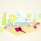 милое лето — Cтоковый вектор