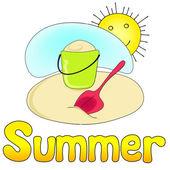 Schattig zomer — Stockvector