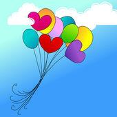 Cute balloons — Stock Vector