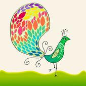 Beautiful peacock — Stock Vector