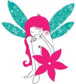 Cute fairy girl — Stock Vector