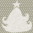 Cute Christmas tree greeting card — Stock vektor