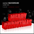 Beautiful Christmas background — Stock Vector