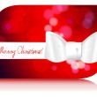 Beautiful glittering Christmas gift card — Imagen vectorial