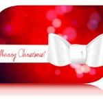 Beautiful glittering Christmas gift card — Stock Vector