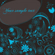 Beautiful floral romantic background — Imagen vectorial