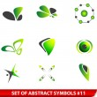 Set of green abstract symbols — Stock Vector #7106846