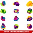 Stock Vector: Set of colored abstract symbols