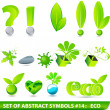 Stock Vector: Set of elegant 3D eco symbols