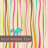 Roztomilý podzimní pták ilustrace — Stock vektor