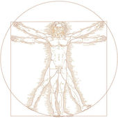 Vitruvian man — Stock Vector