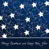 Beautiful Christmas stars background — Stock Vector