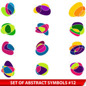 Set of colored abstract symbols — Stock Vector