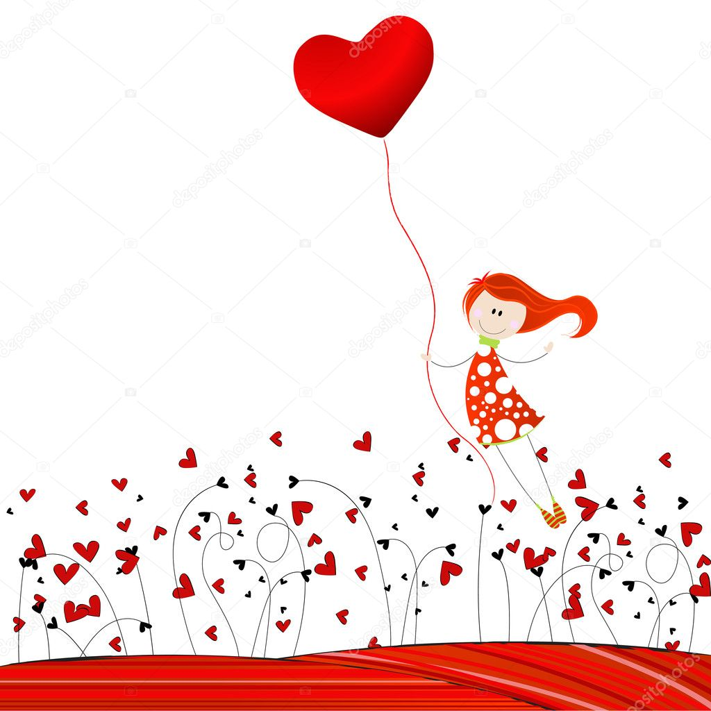 Vector Cute Valentine illustration  Stock vektor #7106665