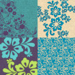 Beautiful floral background set — Stock Vector #7119318