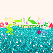 Stock Vector: Cute summer