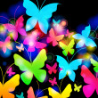 Beautiful floral romantic background with butterflies — Imagen vectorial