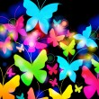 Beautiful floral romantic background with butterflies — Векторная иллюстрация