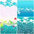 Royalty-Free Stock Vector Image: Cute summer illustration set
