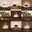 Elegant coffee themed background — Stock Vector