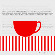 Cup of tea illustration — Stockvektor
