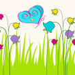 Royalty-Free Stock Vector Image: Cute spring butterfly