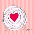 Cute romantic background — Imagen vectorial