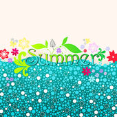 Cute summer — Stock Vector
