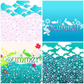 Schattig zomer afbeelding instellen — Stockvector