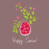 Ilustración hermoso huevo de pascua — Vector de stock