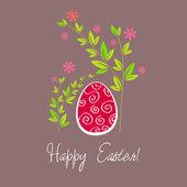 Krásné velikonoční vajíčko ilustrace — Stock vektor