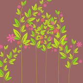 Cute spring flowers illustration — Stock Vector