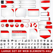Large set of web elements — Stock Vector