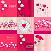 Hermosos fondos románticos florales — Vector de stock