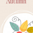 Cute autumn illustration — Stock vektor