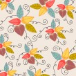 Cute autumn leaves illustration — Imagens vectoriais em stock