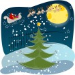 Stock Vector: Cute Christmas greeting card