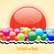 Elegant candy themed background - Stock Vector