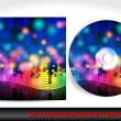 Music themed CD cover presentation template - Image vectorielle