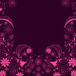 Beautiful floral romantic background — Stockvectorbeeld