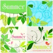 Cute summer illustrations — Stock Vector