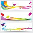 Set of colorful abstract banners — Stock Vector