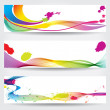Set of colorful abstract banners — Stock Vector #7325856
