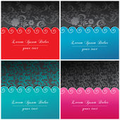 Set of beautiful floral backgrounds — Vector de stock