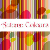 Colorful striped autumn background illustration — Stock Vector