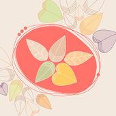 Cute autumn leaves illustration — Stock Vector