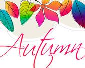 Söt hösten illustration — Stockvektor