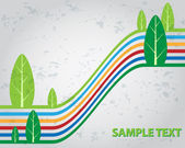 Modern, grunge trees illustration — Stock Vector