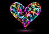 Illustrazione di cuore colorato — Vettoriale Stock