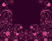 Beautiful floral romantic background — Cтоковый вектор